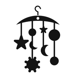 Baby bed carousel icon simple style vector