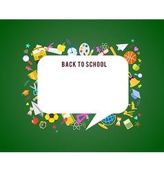 Back to school speech bubble background vector