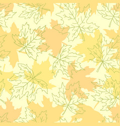 beautiful seamless doodle pattern with yellow vector image
