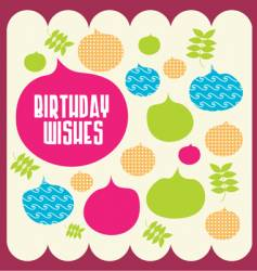 birthday wishes vector image