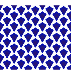 Blue and white chinaware pattern vector