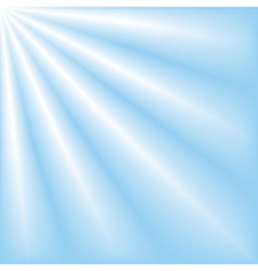 blue sky with ray lights vector image