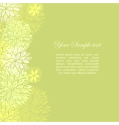 border made of flowers vector image