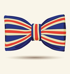 Britain flag bow-tie vector image