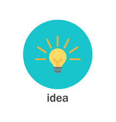 business idea - light bulb lamp icon vector image