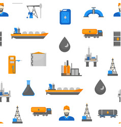 cartoon oil petroleum processing seamless pattern vector image