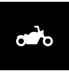 Chopper motorcycle icon vector