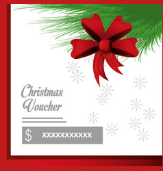 Christmas voucher design vector