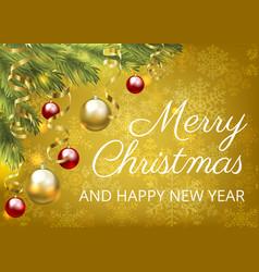 Christmas yellow card vector
