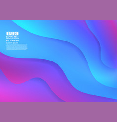 colorful wave abstract background fluid gradient vector image