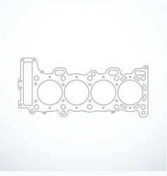 Cylinder head gasket isolated vector