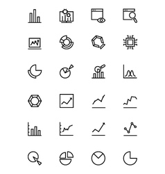 Data Analytics Line Icons 1 vector