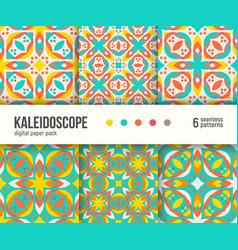 digital paper pack kaleidoscope caleidoscope vector image
