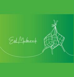 Eid mubarak greeting card poster and banner vector