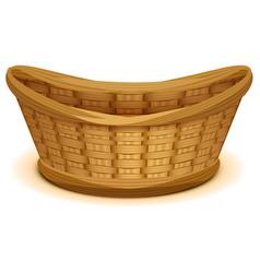 Empty wicker basket nest vector