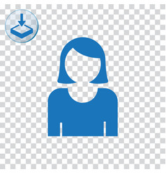 Female user avatar icon for web and mobile vector