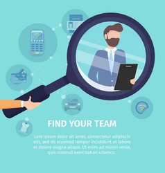 find your business team poster template vector image