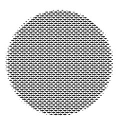Fish filled circle mosaic vector