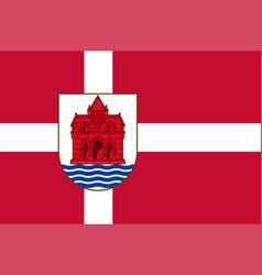 Flag of sonderborg in southern denmark region vector