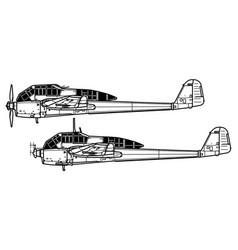 Focke wulf fw 189 uhu vector