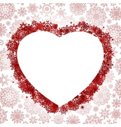 Frame in the shape of heart EPS 8 vector