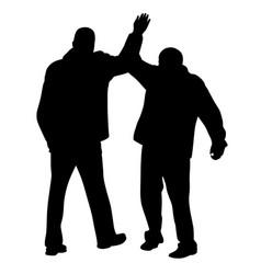 give me five gesture between two businessmen vector image