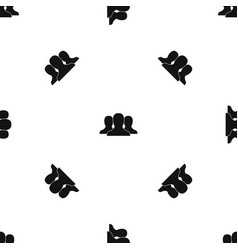 group of people pattern seamless black vector image