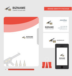 guns business logo file cover visiting card and vector image