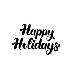 Happy Holidays Handwritten Lettering vector