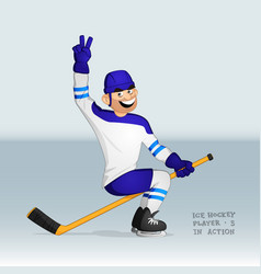 ice hockey player riding the stick vector image