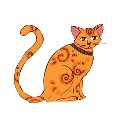 image orange cat isolated on white background vector image