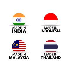 Indian indonesian malaysian and thai symbols vector