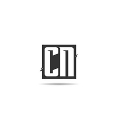initial letter cn logo template design vector image