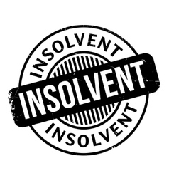 Insolvent rubber stamp vector