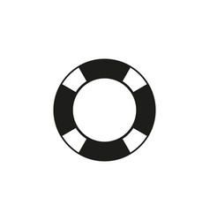 lifebuoy of black icon vector image