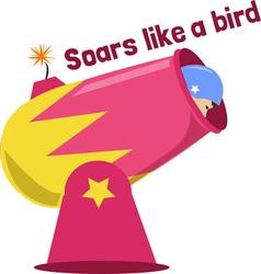 Like a bird vector
