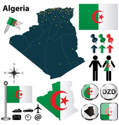 Map of Algeria vector image
