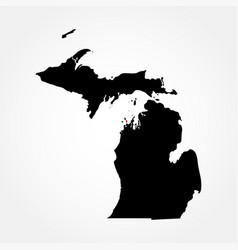 map of the us state michigan vector image