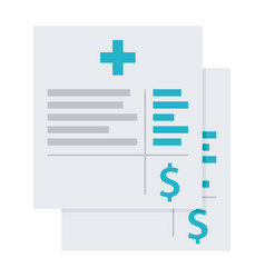 Medical invoice or hospital bills icon vector