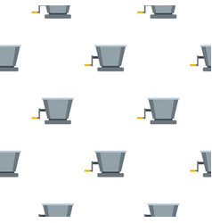 Metal retro juicer or grinder pattern flat vector