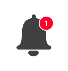 notification bell icon inbox message vector image