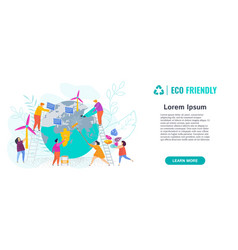People care about planet earth they clean globe vector