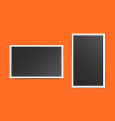 Photo frame on orange background for your vector
