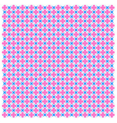 pink-blue geometric seamless pattern image vector image