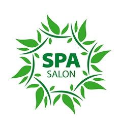 plant round logo for Spa salon vector image