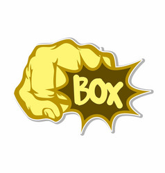 punching with writing box sticker concept vector image