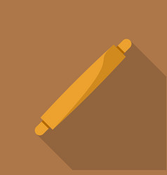 rolling pin icon flat style vector image