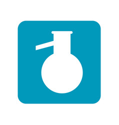 Round flask flat icon of laboratory equipment for vector