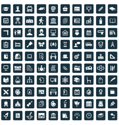 school 100 icons universal set for web and ui vector image