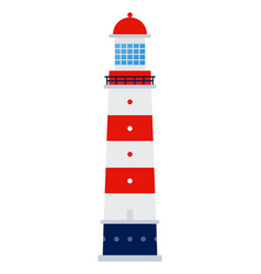sea lighthouse icon flat isolated vector image
